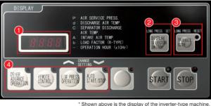 Màn hình điều khiển của dòng điều khiển bằng biến tần (Inverter type)