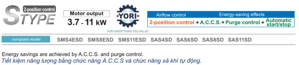 S Type - Dòng máy nén điều khiển bằng chế độ ON OFF